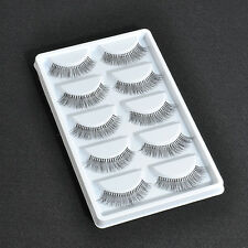 5 Pairs Sparse Cross False Eyelashes Eye Lashes Extension for Makeup Learner