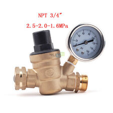 RV Water Pressure Regulator Brass Lead Free 2.5-2.0-1.6MP Pressure Reducer Gauge