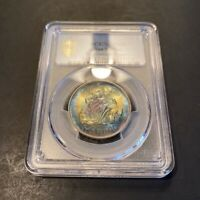 MS66 1975 San Marino Silver 500 Lire, PCGS Secure- Rainbow Toned Beauty
