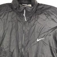 Vtg 90s Nike Team White Swoosh Full Zip Track Mens Jacket Size Large Windbreaker