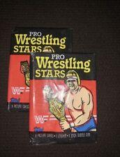 1985 Topps WWF Pro Wrestling Stars Unopened Wax Pack (2 Packs)- CLEAN-RARE!