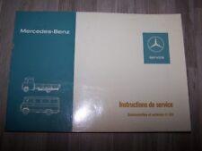 8G - Notice Manuel Instructions Mercedes benz Autocar Camionnette L406 L407 O309