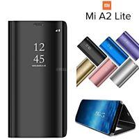 COVER per Xiaomi Mi A2 Lite FLIP ORIGINALE MIRROR Case Ultra SLIM Clear View