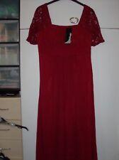 EVERPRETTY LADIES BURGUNDY LACE SHOULDER PROM BRIDESMAID DRESS UK SZ 12 NEW