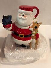 Lenox Rudolph Red Nose Reindeer Lenox Pitcher Mug Teapot Santa 2002 in Box