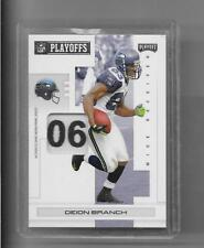 2007 Playoff - DEION BRANCH - Game Used Jersey Patch Tag SEAHAWKS PATRIOTS #d1/5