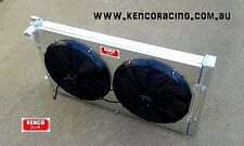 Kenco Big Boy Double Pass Speedway Sedan Aluminium Radiator with Shroud and Fans
