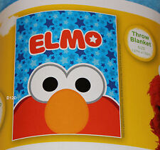 Sesame Street Elmo Blue Stars Printed Polar Fleece Throw Rug Blanket New