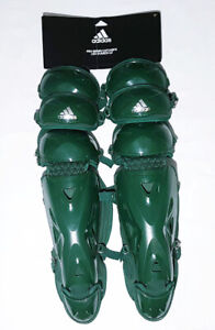 "Adidas Baseball 17"" Inch Pro Series Catchers Leg Guard 2.0 Dark Green S98303"