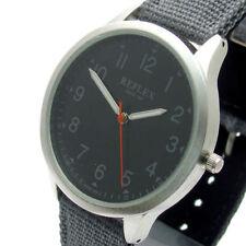 Reflejo de Caballeros analógico Dial Negro Correa Hebilla De Lona Gris Reloj Inteligente REF0004