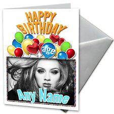 ADELE - Personalised Birthday Card Daughter, Son, Niece, Friend, Nephew