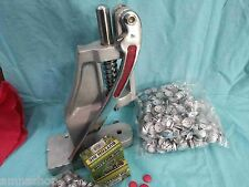 Hand Press Machine For Fabric Cover Button With Two Dies and Free Buttons Crafts