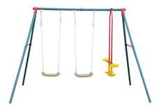 Altalena per bambini in acciaio da giardino giochi all'aperto dondolo bimbi 4+