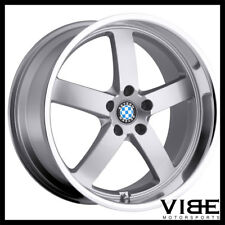 "18"" BEYERN RAPP SILVER FIVE STAR WHEELS RIMS FITS BMW E46 325 330"