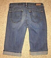 AG Adriano Goldschmied Womens Jeans The Malibu Crop Pant Capri Size 27R X 12