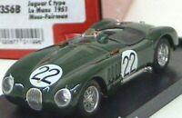 BRUMM R356 356B 356C JAGUAR C TYPE model car Le Mans 51 Walker Moss Johnson 1:43
