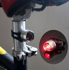 Silver Bike Bicycle Red Led Rear Light 3mode Waterproof Tail Lamp Quick Release