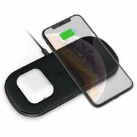 CHOETECH Dual Wireless Charger 5 Coils Double Qi Fast