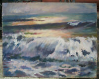 Oil painting River Dnieper Ukraine