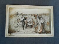 VINTAGE CHALKWARE, THE GLEANERS, WALL PLAQUE, BY JEAN FRANCOIS MILLET