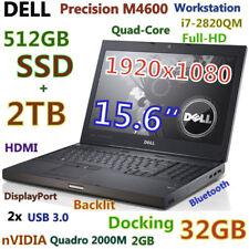 "(3D Design) DELL M4600 i7-QUAD (512GB-SSD + 2TB  32GB) 15.6"" FHD Quadro 2000M"