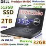 "# Workstation DELL M4600 i7-QUAD 512GB SSD 2TB DVDRW 32GB 15.6"" FHD Quadro DOCK"