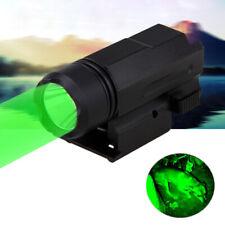 Tactical Compact Mount Green LED Flashlight Gun Light for Rail Rifle w/Picatinny