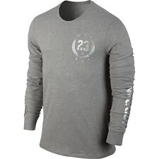 Jordan Fold 'EM Long Sleeve T-Shirt Dark Grey Heather/Silver 706897-063 M ***