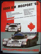 PORSCHE 962 C STUCK  BELL MOSPORT 1000 Km SHOWROOM VICTORY POSTER 1985 RARE.