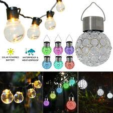 Hanging Crack Globe Solar String Lights Led Lantern Decking Outdoor Garden Yard