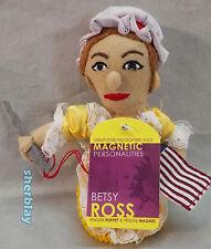 """BETSY ROSS Finger Puppet Fridge Magnet TOY PLUSH 4"""""""