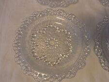 Mid Century 60´s 6 Bubble Glass Bowl Finger Food Dessert Set #<