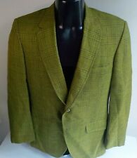 VTG 70's PARK LANE Bond Clothes 2 Button Blazer Shades of Green SZ 40R