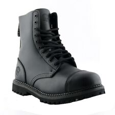 Grinders Stag CS Black Boots Safety Steel Toe Cap 10 Eye Hole Military Punk