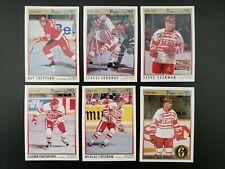 1991-92 O-Pee-Chee Premier Detroit Red Wings Team set Lot 12 w/ Lidstrom RC
