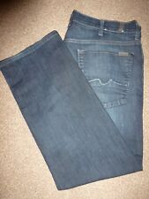 MENS 7 FOR ALL MANKIND AUSTYN FADE DARK BLUE WINTER DENIM JEANS WAIST 38 LEG 29