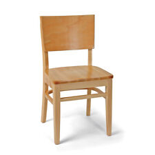 Solid Back Wood Dining Restaurant Chairs