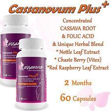 Cassava Fertility Supplement - Cassanovum PLUS - 2 MONTHS Natural Herbal Boost