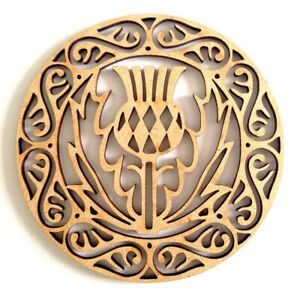 Wooden Blank shape - Scottish Thistle in Celtic circle - different sizes