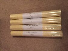 """LAURA ASHLEY PERCY """" GOLD """" WALLPAPER BATCH No W099748-A/1 4x Available"""