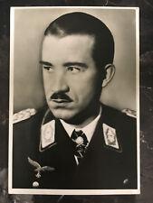 1944 RPPC Postcard Cover Lindau Germany Luftwaffe Fighter Pilot Adolf Galland