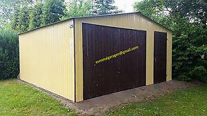 Blechgarage 4x7 m +Tür Blechhalle Schuppe Lager Fertiggarage 4Kantprofil +Aufbau