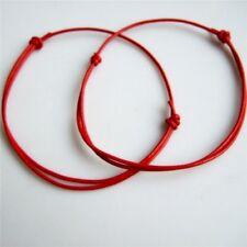 2X DIY Red Leather String Lucky Bracelet Kabbalah Lucky Bracelet Anklet Against