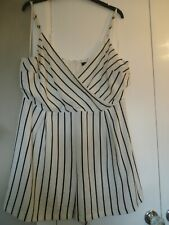 NEW LOOK striped playsuit size 18