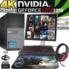 Ultra rapide Dell Gaming PC Quad Core i5 GTX 1050 jeux ordinateur moniteur Full Set