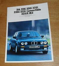 BMW SERIE 3 E30 guida a colori - 316i 318i 320i 325i 325iX M3 Cabrio 1988