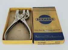 Vintage Bernard W Schollhorn Co No 140 6 12 Heavy Duty Loose Leaf Punch Withbox