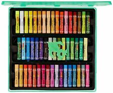 Camlin Kokuyo Oil Pastel Crayons Color 50 Shades Assorted Colours Plastic Box