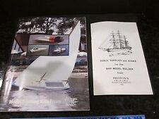 VTG DUMAS BOATS MODEL CATALOG + PRESTON'S MODEL BUILDER SUPPLY CATALOG, ca 1984