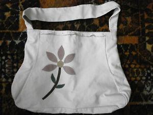 Ladies Large Cream Leather Tote Bag